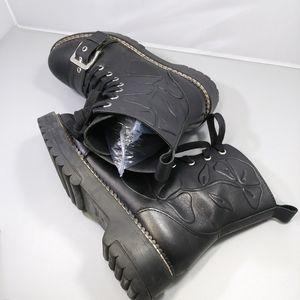 ZARA Black Combat Boots